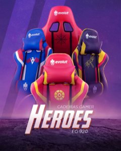 Cadeira Gamer Evolut HEROES Reclinavel - EG-920 - 150KG