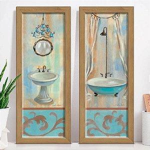 Kit 2 Quadros Decorativos Banheiro