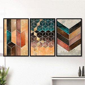 Quadro Geométrico Cubos