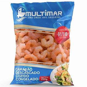 CAMARÃO COZIDO DESCASCADO 91/110 MULTIMAR 200G