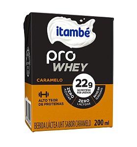 BEBIDA LACTEA PRO WHEY CARAMELO ITAMBÉ 200ML