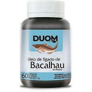 CAPSULA ÓLEO FIGADO BACALHAU DUOM  60C