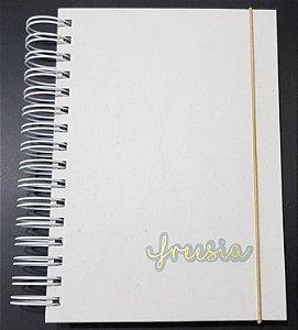 Caderno Aplique Dourado