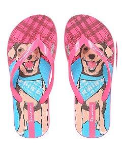Chinelo Ipanema Pets Inf  Rosa Neon/