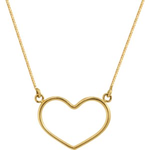Gargantilha Coração Vazado Ouro 18k 750