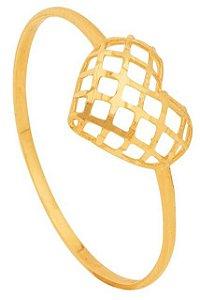 Anel coração telado ouro 18K 750