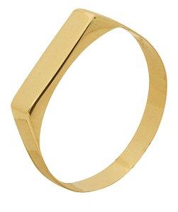 Anel chapinha Ouro 18K 750