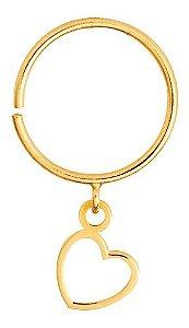 Piercing Argolinha Com Coração Ouro 18k 750