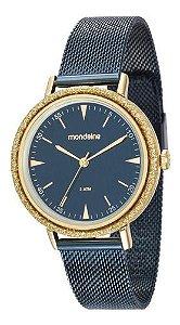 Relógio Mondaine Feminino Redondo Azul 89001lpmvle4