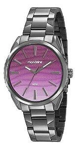 Relógio Mondaine Feminino Redondo Chumbo 53716lpmvse3