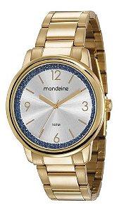 Relógio Mondaine Feminino Redondo Dourado 53634lpmvde1k3