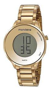 Relógio Mondaine Feminino Redondo Dourado 53786lpmvde1