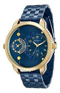 Relógio Mondaine Feminino Redondo Dourado 76544lpmvle7