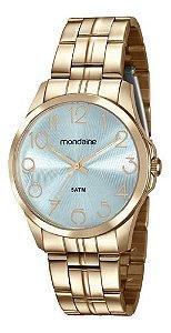 Relógio Mondaine Feminino Redondo Dourado 78751lpmvda1