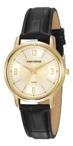 Relógio Mondaine Feminino Redondo Dourado 83475lpmvdh2