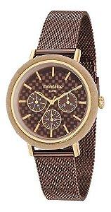 Relógio Mondaine Feminino Redondo Dourado 89011lpmvae2