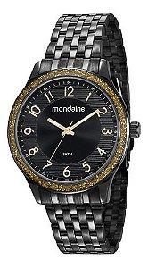 Relógio Mondaine Feminino Redondo Preto 53649lpmvpe2