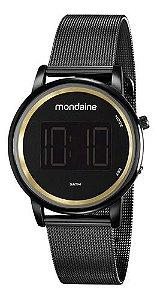 Relógio Mondaine Feminino Redondo Preto 53787lpmvpe3