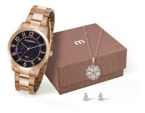 Relógio Mondaine Feminino Redondo Rose Gold 53638lpmvre1k8