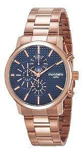 Relógio Mondaine Feminino Redondo Rose Gold 53708lpmvrs3
