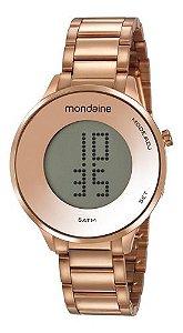 Relógio Mondaine Feminino Redondo Rose Gold 53786lpmvre2