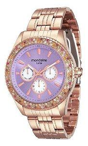 Relógio Mondaine Feminino Redondo Rose Gold 78731lpmvra3