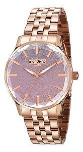 Relógio Mondaine Feminino Redondo Rose Gold 99023lpmvre3