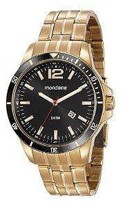 Relógio Mondaine Masculino Redondo Dourado 78757gpmvda2