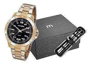Relógio Mondaine Masculino Redondo Dourado 99468gpmvde1k1