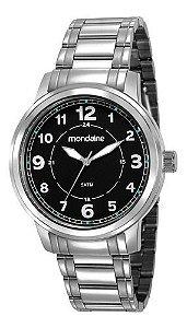 Relógio Mondaine Masculino Redondo Prata 83418g0mvna1