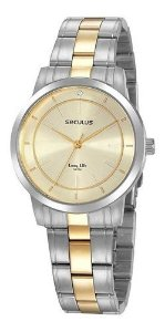 Relógios Seculus  Feminino Redondo Champagne 20918lpsvba2