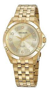 Relógios Seculus  Feminino Redondo Champagne 20950lpsvda1