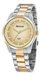 Relógios Seculus  Feminino Redondo Champagne 20953lpsvba3