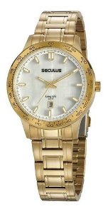 Relógios Seculus  Feminino Redondo Madreperola 20897lpsvda1