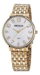 Relógios Seculus  Feminino Redondo Madreperola 77050lpsvds1