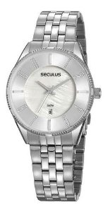 Relógios Seculus  Feminino Redondo Madreperola 77073l0svns2
