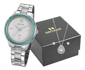 Relógios Seculus  Feminino Redondo Prata 20894l0svns4k1