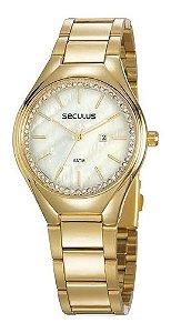 Relógios Seculus  Feminino Redondo Verde 77044lpsvds1