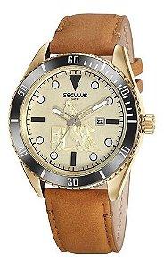 Relógios Seculus  Masculino Redondo Champagne 20830gpsvdc1