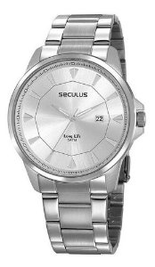 Relógios Seculus  Masculino Redondo Preto 20805g0svna3
