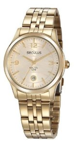 Relógios Seculus Feminino Redondo Champagne 35017lpsvda2