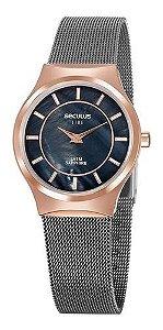 Relógios Seculus Feminino Redondo Cinza 20772lpsvus2