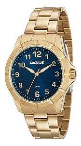 Relógios Seculus Feminino Redondo Dourado 20562lpsvds1