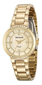 Relógios Seculus Feminino Redondo Madreperola 23590lpsvda1