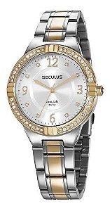 Relógios Seculus Feminino Redondo Prata 28966lpsvba1