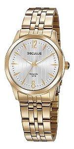Relógios Seculus Feminino Redondo Prata 35027lpsvda2