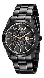 Relógios Seculus Feminino Redondo Preto 28839lpsvss3