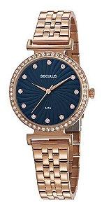 Relógios Seculus Feminino Redondo Rose Gold 20738lpsvrs3