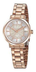 Relógios Seculus Feminino Redondo Rose Gold 35018lpsvra1