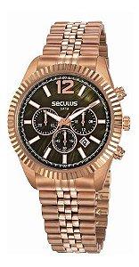 Relógios Seculus Feminino Redondo Rose Gold20778lpsvrs1